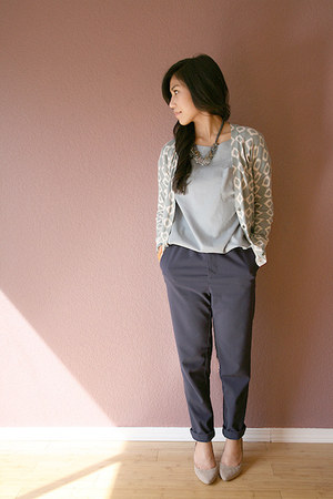 navy H&M pants