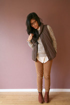 JCrew pants - H&M shoes - Equipment blouse - Old Navy jumper - Gap vest