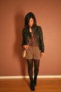 Black-indigo-by-clarks-boots-black-f21-jacket-light-pink-gap-purse