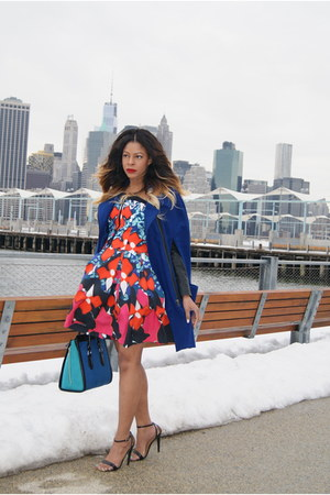 blue coat asos cape - navy a line Peter Pilotto x Target dress