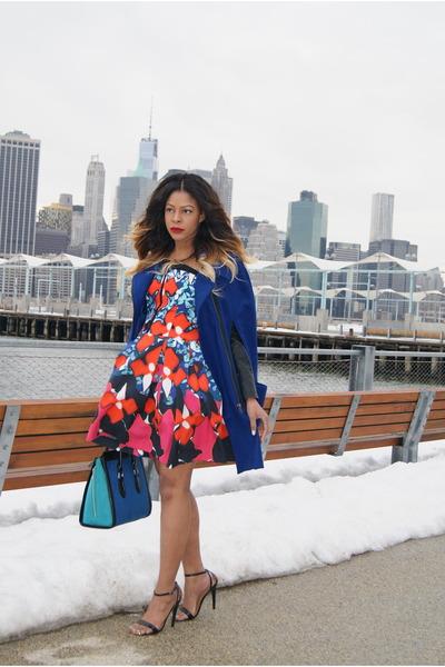 blue coat asos cape - navy a line Peter Pilotto x Target dress