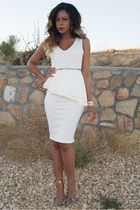 white peplum Smoochxoxo dress