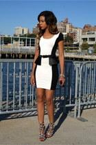 bodycon Bebe dress - peplum asos belt - crystal Zigi Soho sandals