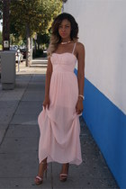 light pink maxi dress Blaque Label dress - light pink swarovski Zigi Soho heels