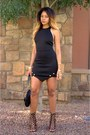 Black-cut-out-asilio-dress-black-lace-up-shiekh-shoes-heels