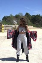 camouflage Rehab jacket - heather gray sweats Dolls Kill sweatshirt