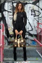oversized Louis Vuitton bag - suede Dolce Vita boots