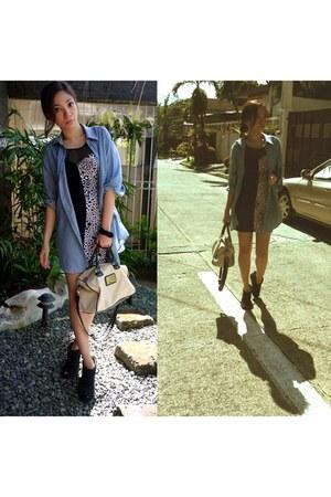 Stylebreak dress - H&M shirt - Mango bag - Aldo heels