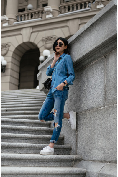 light blue Denim & Supply jeans