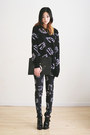 Black-buckled-choies-boots-black-patterned-the-ophans-arms-sweater