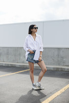 sky blue R13 Denim shorts