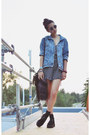Black-sheinside-shoes-sky-blue-diy-studded-thrifted-jacket