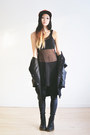Black-velvet-romwe-leggings-black-netted-shoppalu-vest