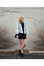 Black-platform-frontrow-shop-shoes-white-vateno-jacket