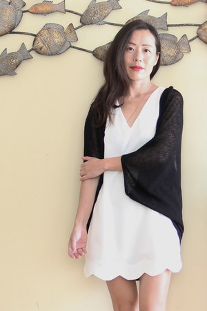 old dress - Forever 21 cardigan