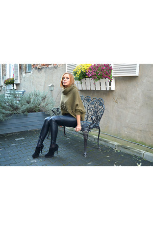 Otter boots - leather pants Zara pants