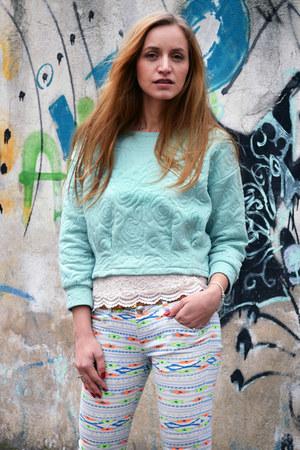 Bershka pants - Sheinsidecom blouse