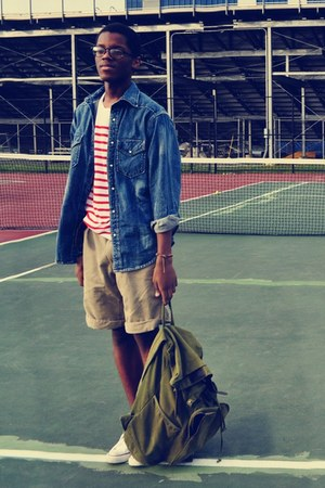 red stripe shirt H&M t-shirt - blue jean Arizona shirt