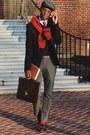 Paperboy-old-navy-hat-brooks-brothers-sweater-navy-blue-asos-blazer