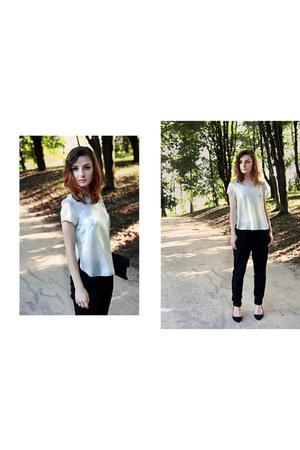 silver H&M blouse