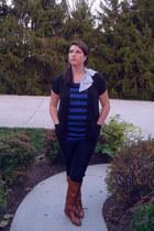 Michael Kors boots - Charlotte Russe shirt - The Limited cardigan - TJ Maxx jean