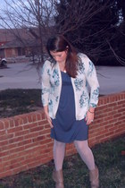 piperlime boots - Charlotte Russe tights - Ann Taylor Loft dress - Anthropologie