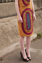 APRIL2ND Circular African Print Pencil Skirt