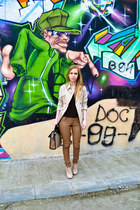 Seashells vintage coat - asos boots - Zara bag - Ebay pants