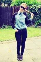 Sheinside shirt - Topshop jeans