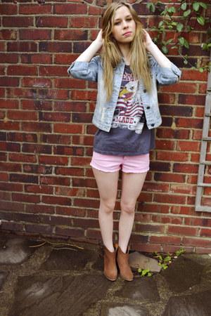 River Island boots - Topshop shorts - Topshop t-shirt