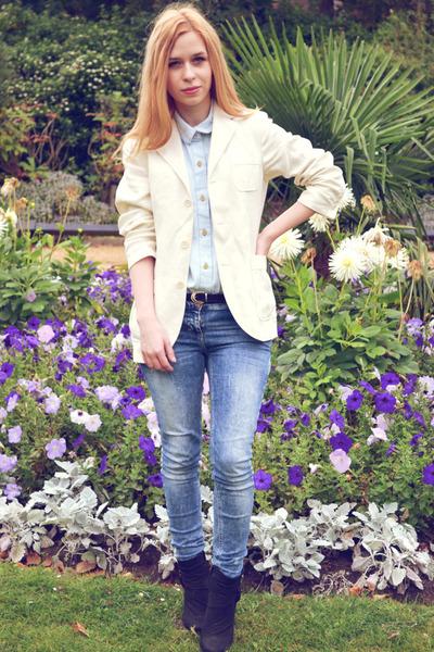 Polo by Ralph Lauren blazer - next boots - River Island jeans - Glamorous shirt