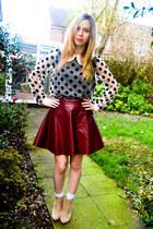 Ebay skirt - asos boots - Ebay blouse