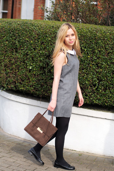 vintage from Paris bag - asos dress - asos loafers