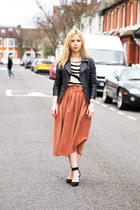 asos skirt - Miss Selfridge jacket - Forever 21 jumper - Zara heels