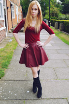 Ebay skirt - next boots - Ebay top