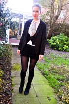 random brand shirt - next boots - Seashells vintage blazer - Yesstyle shorts