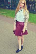 Ebay skirt - Glamorous shirt - Topshop cardigan - Primark flats