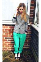 asoscom pants - Urban Outfitters blazer - Mango heels