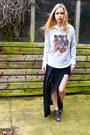 Seashells-vintage-sweater-ebay-skirt-urban-outfitters-heels