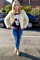 H&M top - asos boots - River Island jeans - Seashells vintage jacket