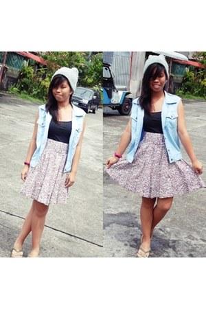 Floral skirt skirt