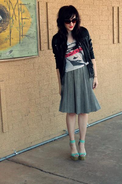 houndstooth thrifted skirt - Forever 21 jacket