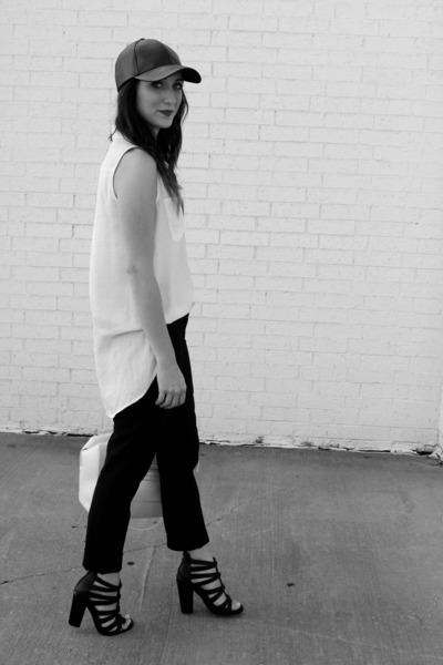 Target hat - Forever 21 top - Gap pants - Shoe Dazzle heels