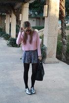 black tote Celine bag - pink pink crop top Topshop sweater