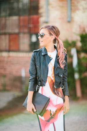 black leather jacket Nasty Gal jacket