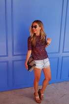 light blue cut-offs DIY shorts