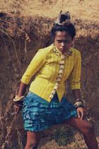 tribal woven Self Made blazer - tie-dye Self Made skirt