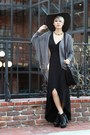 Black-lita-style-boots-black-wrap-dress-gray-wool-h-m-hat