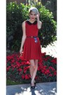 Ruby-red-modcloth-dress-silver-heart-shaped-full-tilt-sunglasses