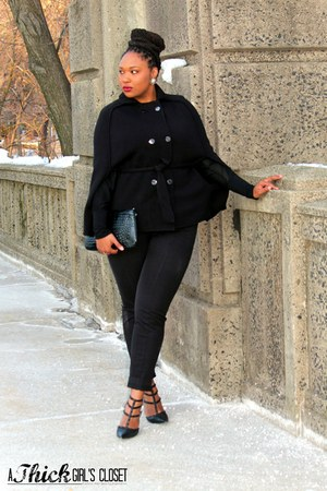 black Express bag - black Rafaella pants - black Shoedazzle pumps